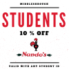 10% Student Discount at Nandos